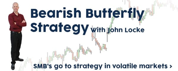 Bearish butterfly options strategy